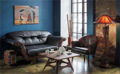 Эксклюзивная мебель из массива и кож